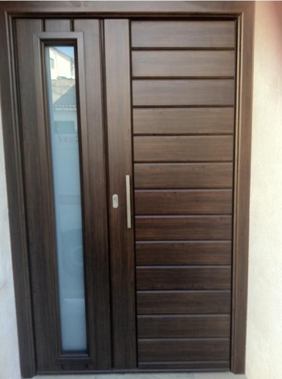 Puertas entrada puertas indumetal for Puertas de calle aluminio precios